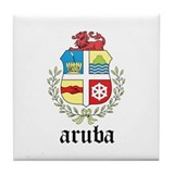 Aruban Coat of Arms Seal Tile Coaster