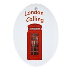 London Calling - Holiday Ornament Oval