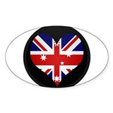 I love Australia Flag Oval Decal