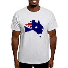 Australia Flag Map T-Shirt