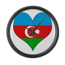 I Love Azerbaijan Large Wall Clock