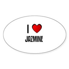 I LOVE JAZMINE Oval Decal