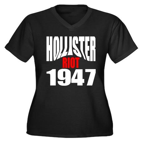 Hollister Riot 1947 Women's Plus Size V-Neck Dark