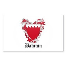 Bahraini Coat of Arms Seal Rectangle Decal