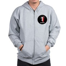 Flag Map of Bahrain Zip Hoodie