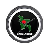 Flag Map of Bangladesh Wall Clock