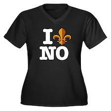 I love New Orleans Women's Plus Size V-Neck Dark T
