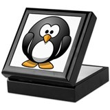 Cartoon Penguin Keepsake Box