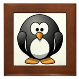 Cartoon Penguin Framed Tile