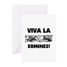 Viva La Ermines Greeting Cards (Pk of 10)