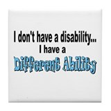 Different Ability Tile Coaster
