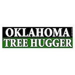Oklahoma Tree Hugger bumper sticker