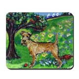 Irish Terrier summer whimsica Mousepad