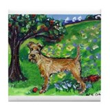 Irish Terrier summer whimsica Tile Coaster