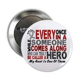 "HERO Comes Along 1 Aunt BRAIN CANCER 2.25"" Button"