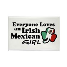 Irish Mexican Girl Rectangle Magnet