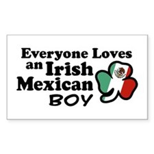 Irish Mexican Boy Rectangle Decal