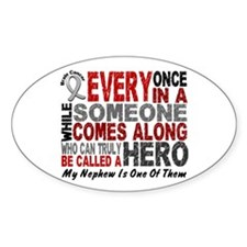 HERO Comes Along 1 Nephew BRAIN CANCER Decal