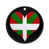 I love Basque Flag Ornament (Round)