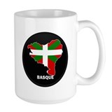 Flag Map of Basque Coffee Mug