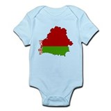 Belarus Flag Map Onesie