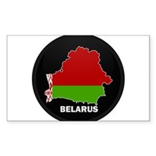 Flag Map of Belarus Rectangle Decal