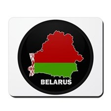 Flag Map of Belarus Mousepad