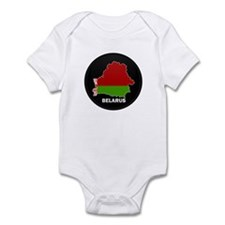 Flag Map of Belarus Infant Bodysuit