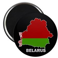 "Flag Map of Belarus 2.25"" Magnet (10 pack)"