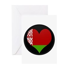 Flag Map of Belarus Greeting Card