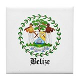 Belizean Coat of Arms Seal Tile Coaster