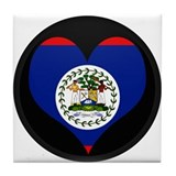 I love Belize Flag Tile Coaster