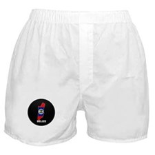 Flag Map of Belize Boxer Shorts
