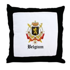Belgian Coat of Arms Seal Throw Pillow