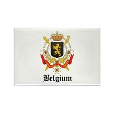 Belgian Coat of Arms Seal Rectangle Magnet