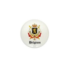Belgian Coat of Arms Seal Mini Button (10 pack)
