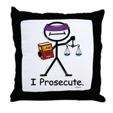 Prosecute Throw Pillow