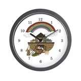 Noah's Ark Kids Wall Clock