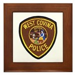 West Covina Police Framed Tile