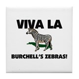 Viva La Burchell's Zebras Tile Coaster