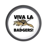 Viva La Badgers Wall Clock