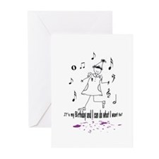 Cute Birthday dance Greeting Cards (Pk of 20)