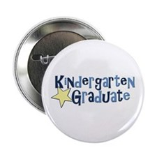 "Boy Kindergarten Graduate 2.25"" Button (100 pack)"