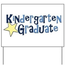 Boy Kindergarten Graduate Yard Sign