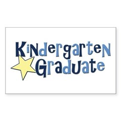 Boy Kindergarten Graduate Rectangle Sticker