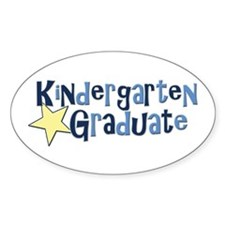 Boy Kindergarten Graduate Oval Decal