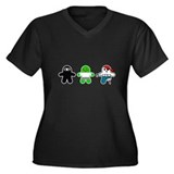 Ninja, Zombie, Pirate Women's Plus Size V-Neck Dar
