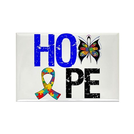 Autism HOPE Rectangle Magnet
