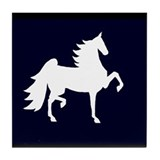 UHF Saddlebred Silo Tile Coaster