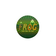 Frog Fully Rely On God Mini Button (100 pack)